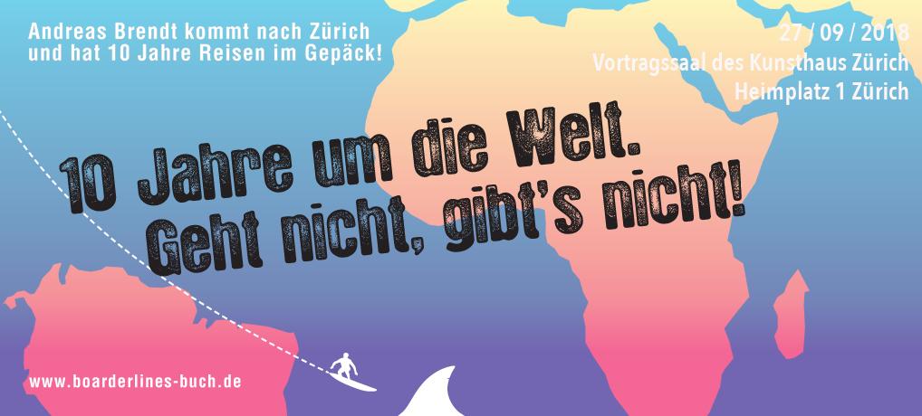 Eventflyer für den Vortrag von Andreas Brendt in Zürich