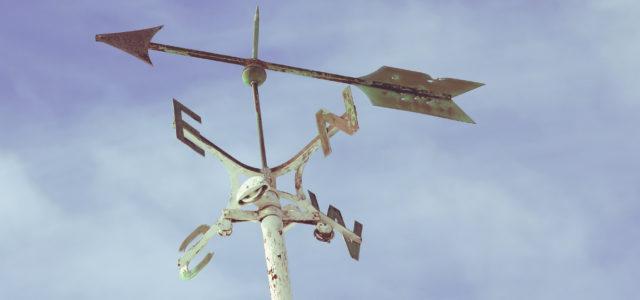 Wetterfahne für den Wind
