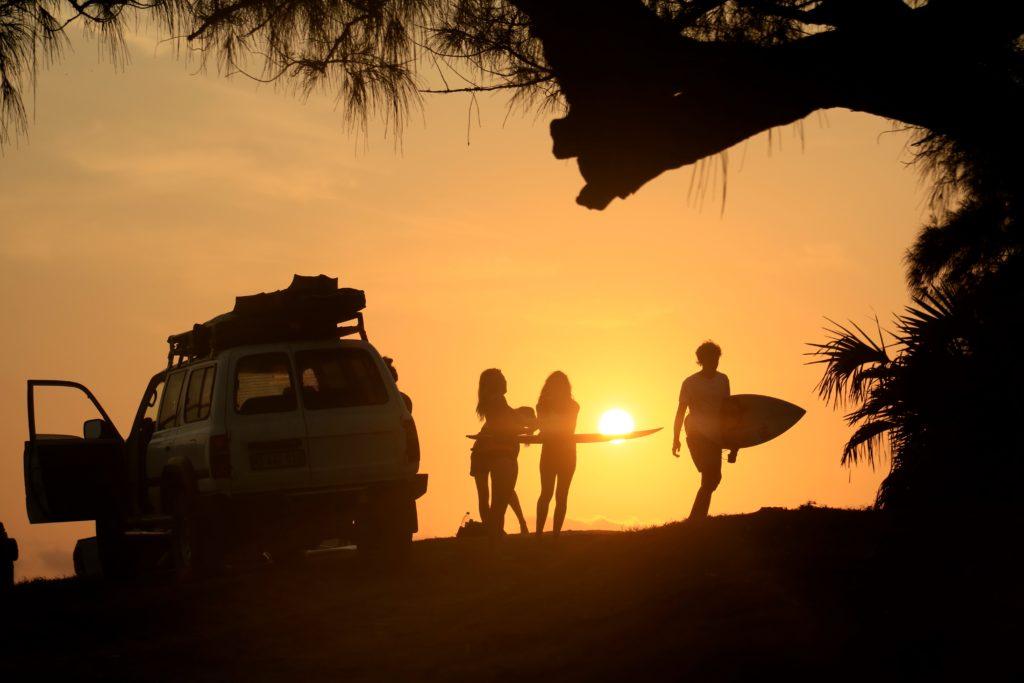 Sonnenuntergang am Tofinho Point