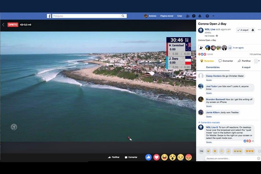 WSL Live Streaming auf Facebook