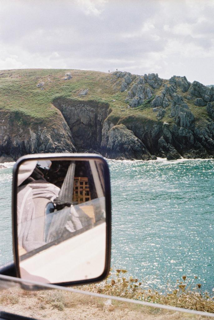 Rückspiegel eines Vans