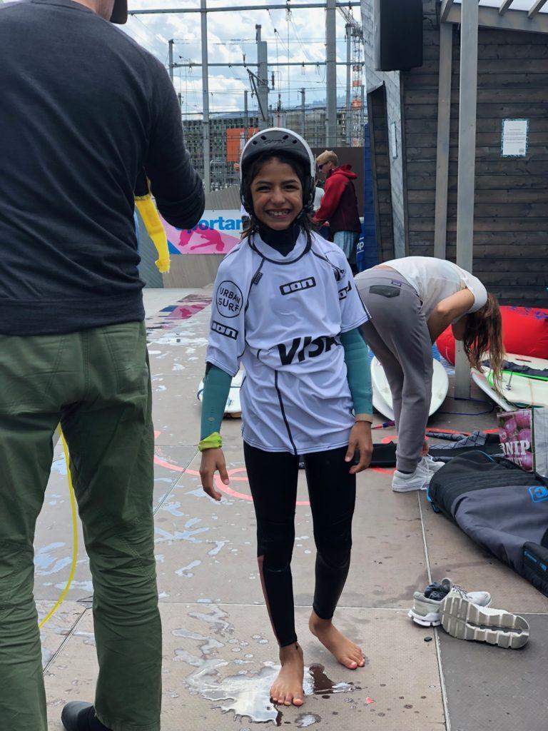 Fabiana Klein an der Swiss Wavepool Championship 2019