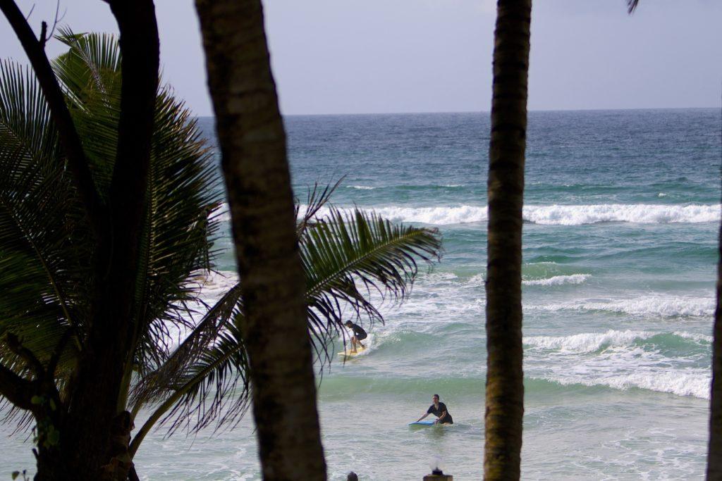 Blick auf Surfsession