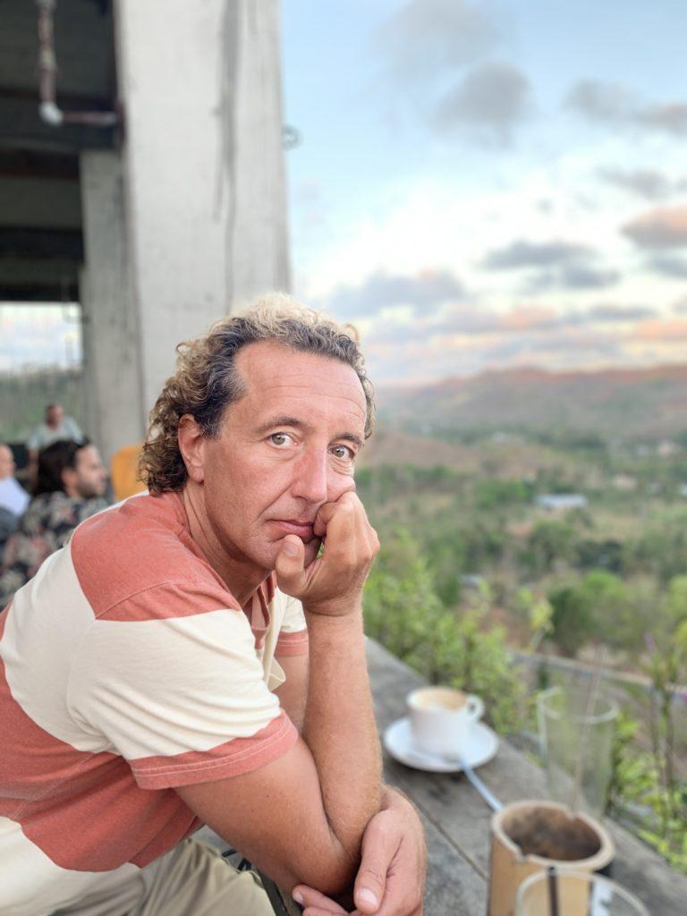 Michael Schneid auf der Camp-Terrasse