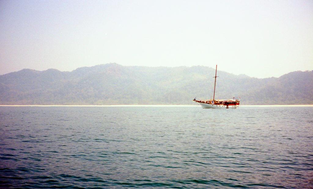 Das Boot in der Ferne