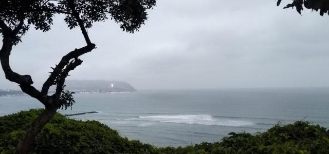 Aufblick auf Line-up in Lima