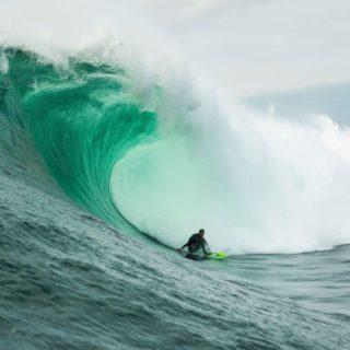 Nic von Rupp in einer Big Wave