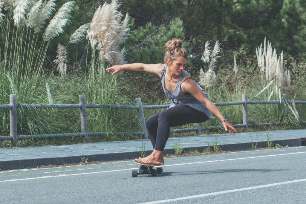 Fabienne Sutter auf dem Skateboard