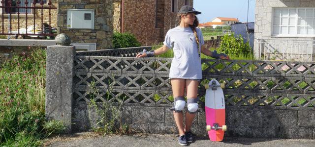 Fabienne Sutter mit ihrem ersten Surfskateboard