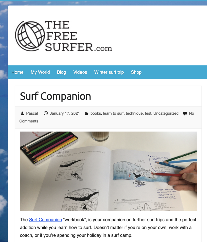 Blogbeitrag von the free surfer